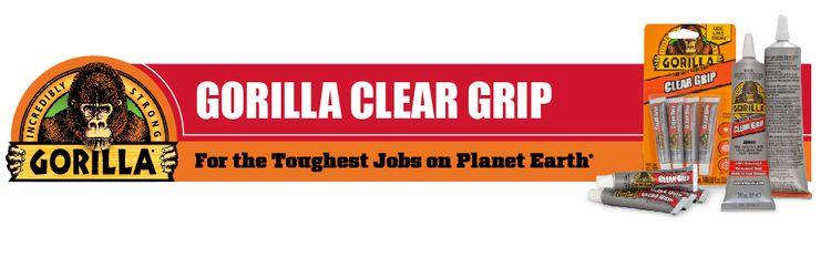 Gorilla Clear Grip contact adhesive waterproof cement lexan plexiglass acrylic weld