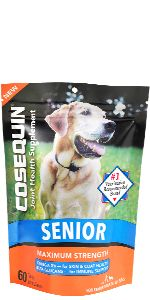 Cosequin Senior Maximum Strength Soft Chews for Joint Support, Skin & Coat Health, Digestive Health