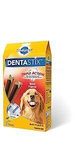 DentaStix, Beef, Dog, Treats, Oral Care, Treats, Reduces Tartar and plaque, freshens breath