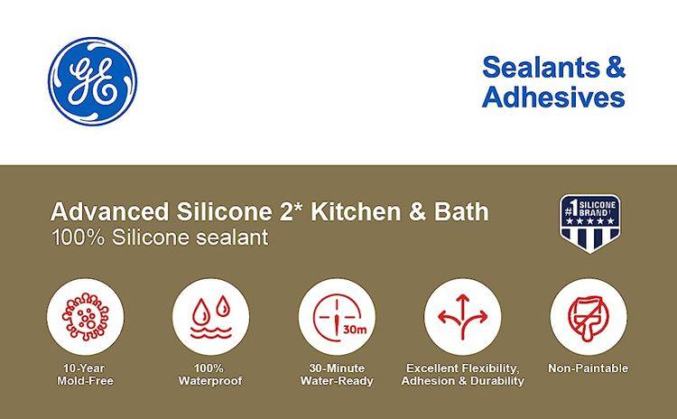 Advanced Siliecone 2* Kitchen & Bath 100% Silicone Sealant