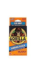 Gorilla 120 Grit Sanding Block and Pad