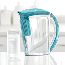 brita stream pitcher;cascade;bordeaux;white;grey;fast water filtration;great-tasting water;purifying