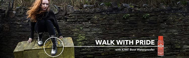 Walk with pride with KIWI Boot Waterproofer