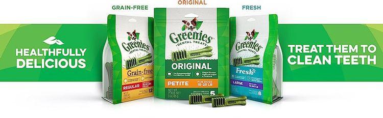 Healthfully Delicious, Treat Them to Clean Teeth, Greenies Dental Chews, Dog Treats, Grain Free