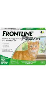 frontline plus flea tick treatment cat