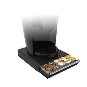 black, red, white, coffee pod drawer, drawer, coffee pods, k-cups, stand, coffee, cbtl, verismo