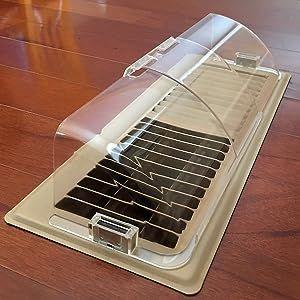 floor register vent deflector forced air