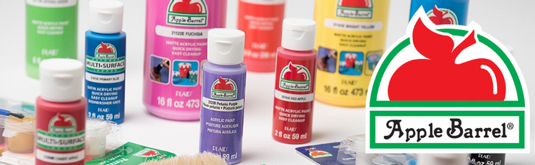 Apple Barrel Acrylic Paint is the go-to crafter's choice for projects big and small.