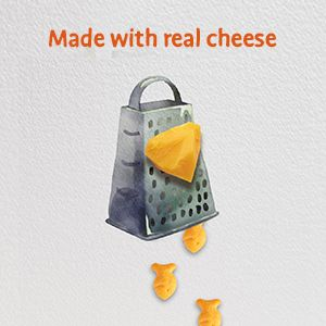 Goldfish cheddar crackers made with real cheese
