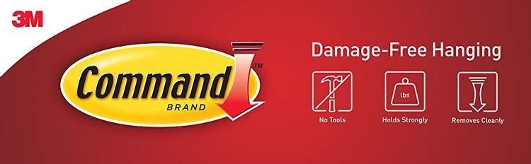 Command Damage-Free Hanging, No Tools, Holds Strongly, Removes Cleanly