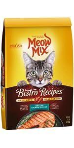 meow mix cat food dry bistro cat food