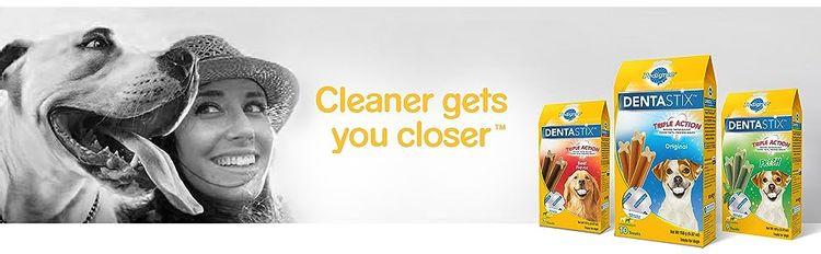 Cleaner gets you closer, dog dental sticks, dog dental chews, dog chew sticks, chewy dog treats