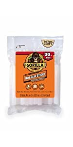 gorilla hot melt glue gun sticks full size 4 inch