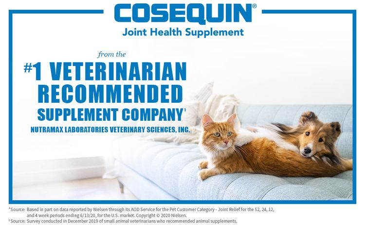 Cosequin Joint Health Supplement, from the #1 Veterinarian Recommended Supplement Company