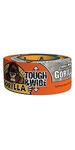 Gorilla Silver Tough & Wide Duct Tape