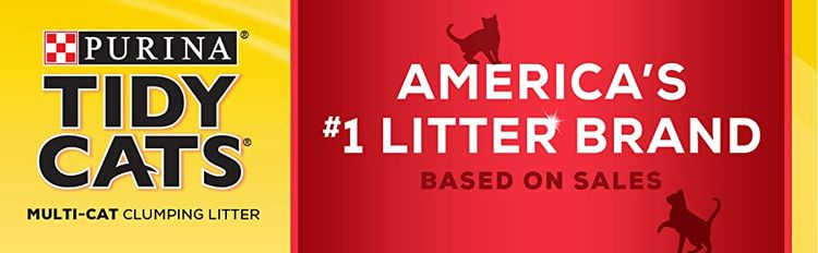 Purina Tidy Cats Multi Cat Clumping Litter, America's leading litter brand based on sales