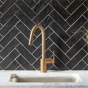 moen, kitchen faucet, brushed gold faucet