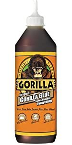 Original Gorilla Glue brown waterproof expanding polyurethane adhesive