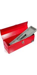 "19"" Portable Steel Tool Box"