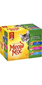 meow mix wet cat food seafood salmon fish cat food wet