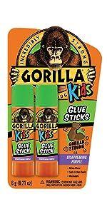 Gorilla Kids School Glue Sticks