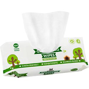pogi's grooming wipes green tea
