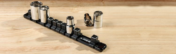 1/2-inch Drive 9.84-inch Aluminum Socket Rail Store up to 10 Sockets and Keep Tool Box Organized