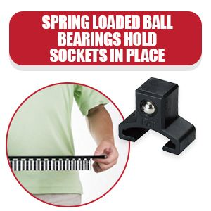 Spring Loaded Ball Bearings Hold Sockets in Place