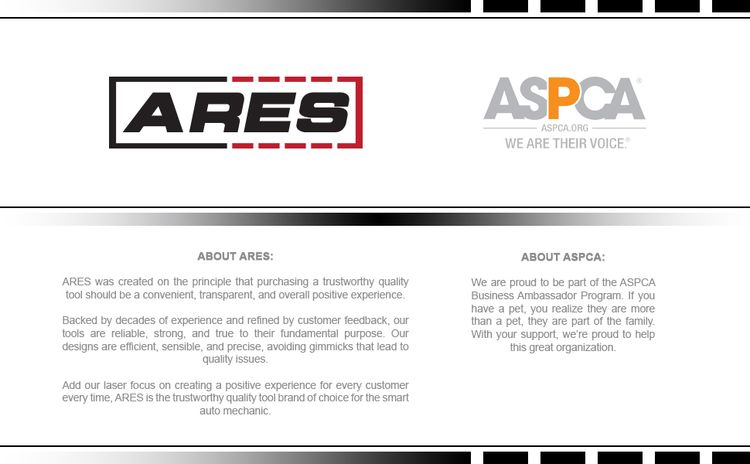 About ARES: ARES Tool is a proud business ambassador for the ASPCA.