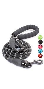 baapet_reflective_rope_dog_leash_black