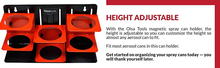 magnetic magnet rare earh neodymium can aerosol spray holder holders organizer organizers adjustable