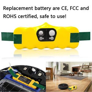 4500mAh Replacement Battery for iRobot Roomba, Extended Battery for iRobot Roomba R3 500 600 700 800