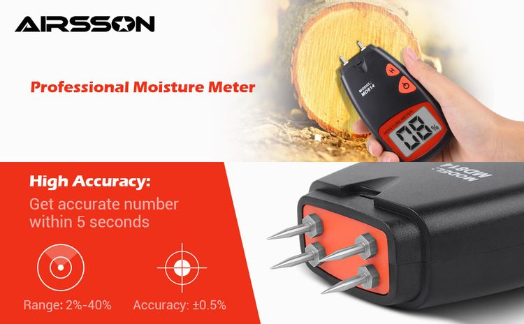 High accuracy moisture meter