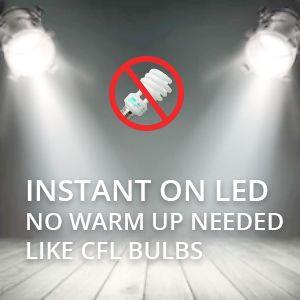 instand on led bulbs
