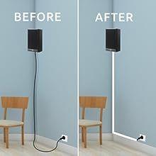 hide speaker cable
