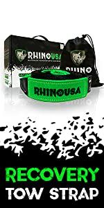 rhino usa superior power sports accessories straps tie downs offroad motorcycle tow strap recovery